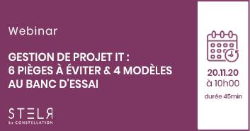 [Webinar] Gestion de projet IT : 6 pièges à éviter & 4 modèles au banc d'essai