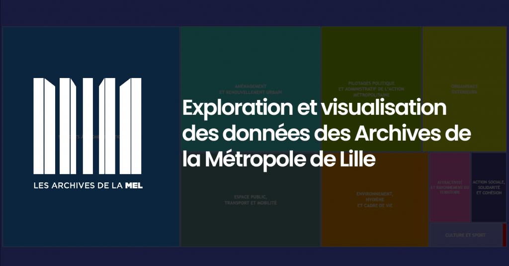 [Infographie] Exploration et visualisation des données des Archives de la Métropole de Lille